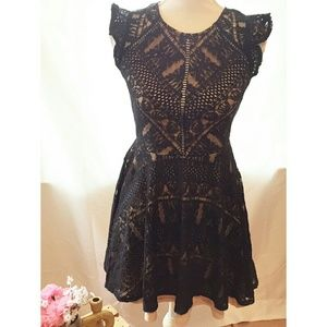City triangles black dress